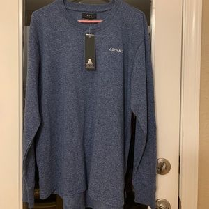 AYC Asphalt men's blue 3 button long sleeve